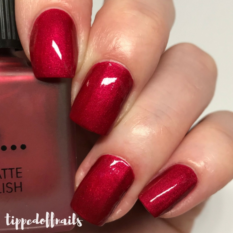 Primark PS Satin Matte nail polish Post Box Red