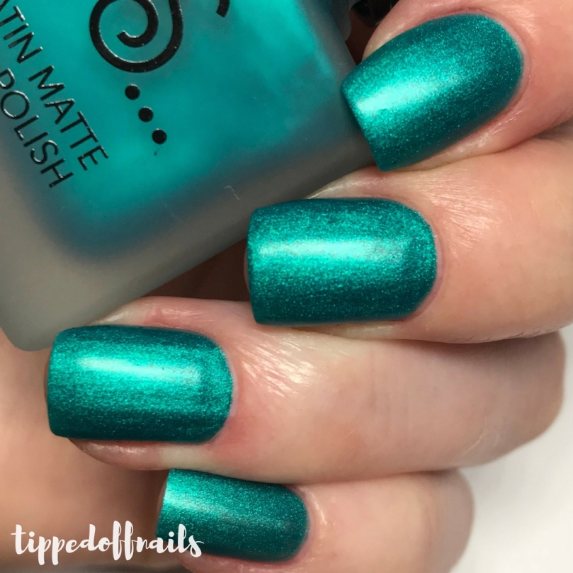 Primark PS Satin Matte nail polish Sea Blue