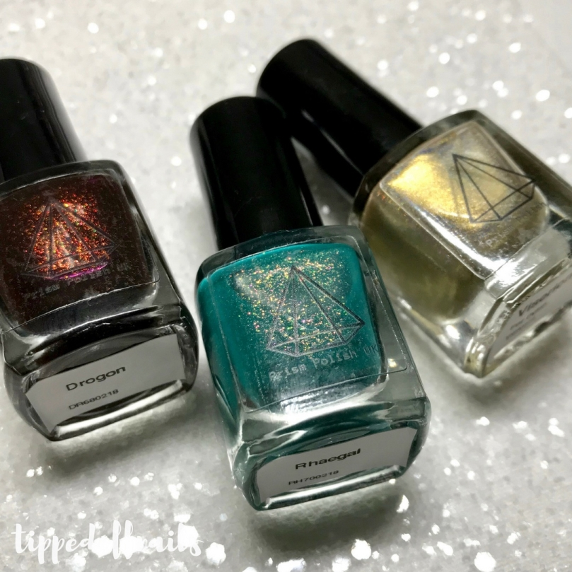 Prism Polish Dragon Eggs Trio swatches and review