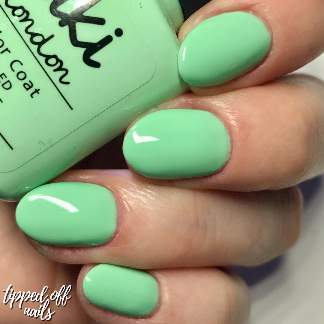 Kiki London Gel Cool Mint Swatch