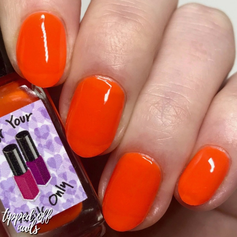 For Your Nails Only - Ablaze swatch