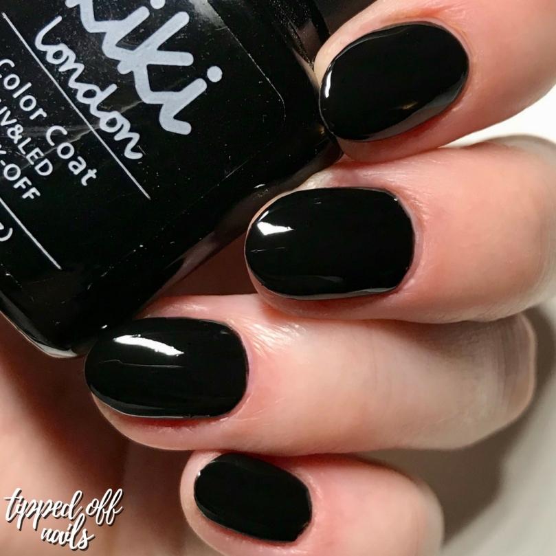 Kiki London Gel Black Heart Swatch