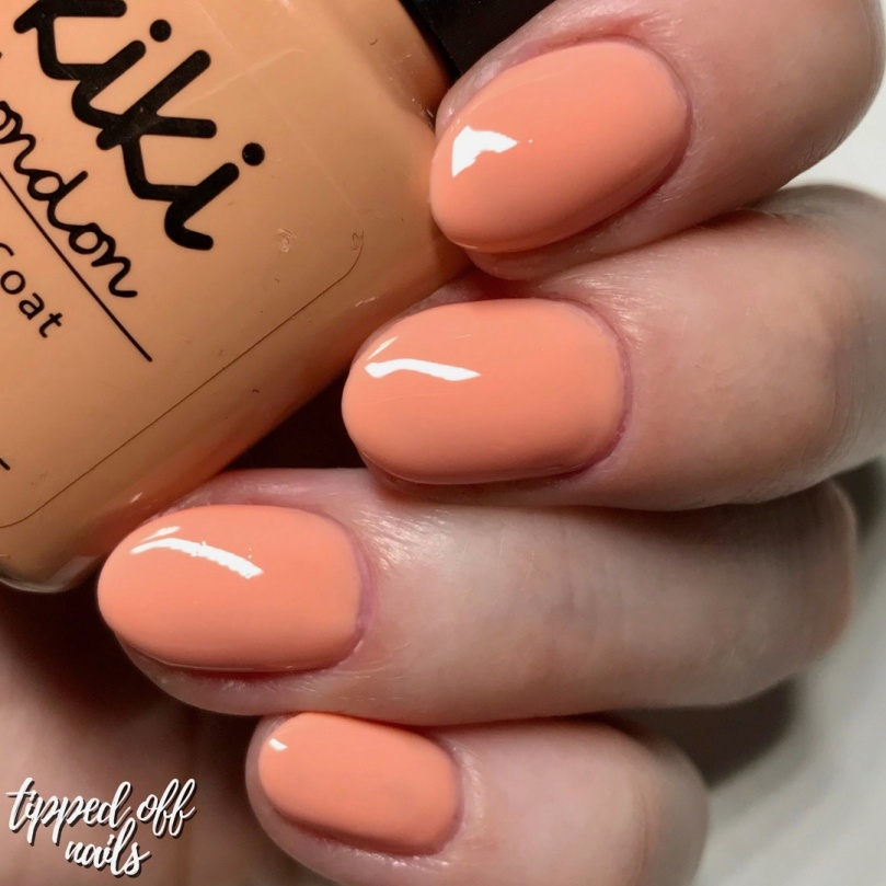 Kiki London Gel Feelin' Peachy Swatches