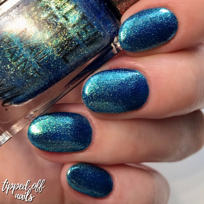 Barry M New Molten Metal Crystal Blue Swatches