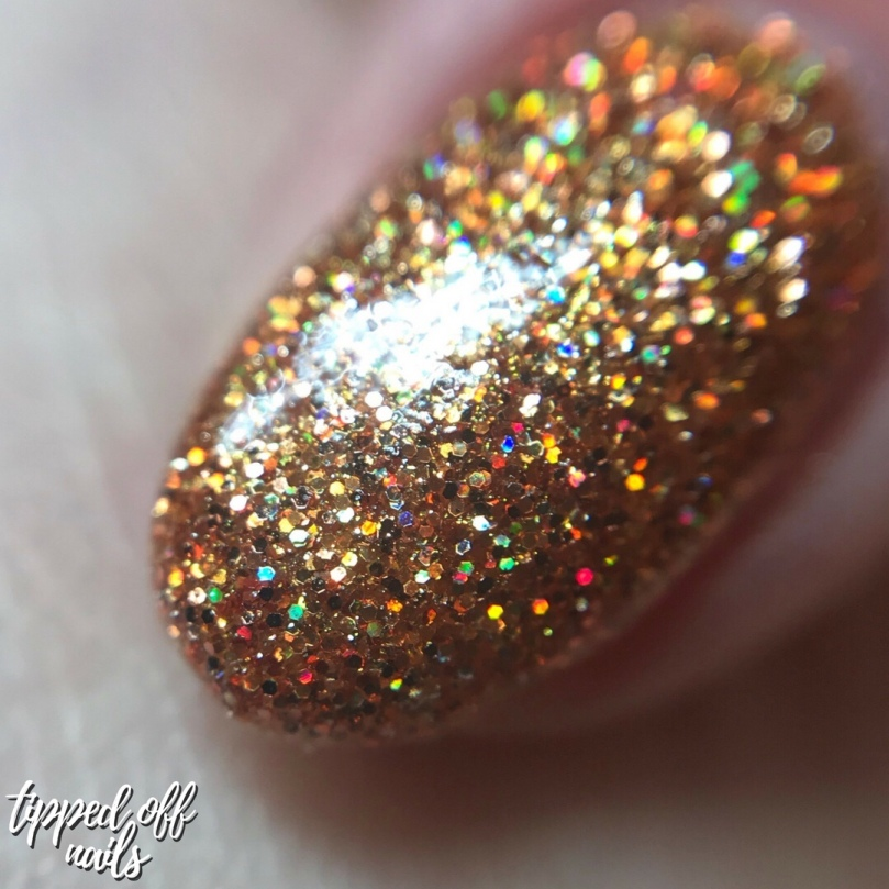 De'Lish Nails London Autumn Polishes - Pumpkin Spice swatch & discount code