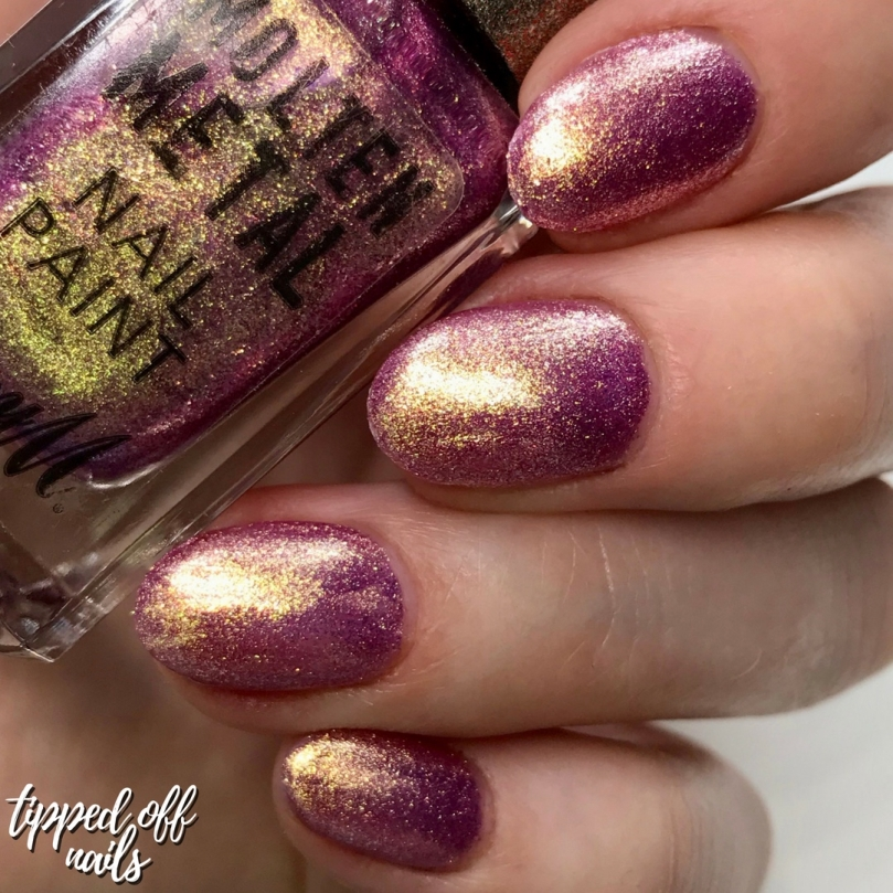 Barry M New Molten Metal Pink Luxe Swatches