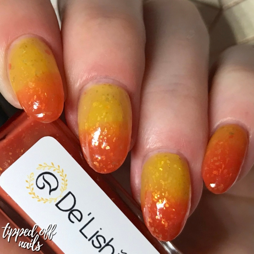 De'Lish Nails London Autumn Polishes Inferno swatches & Discount code
