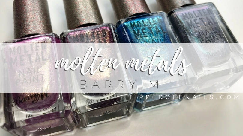 NEW Barry M Molten Metal Swatches & Review
