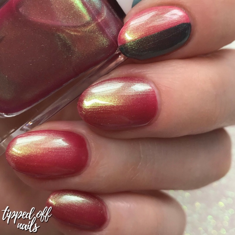 Barry M Under the Sea Pacific Flame swatches