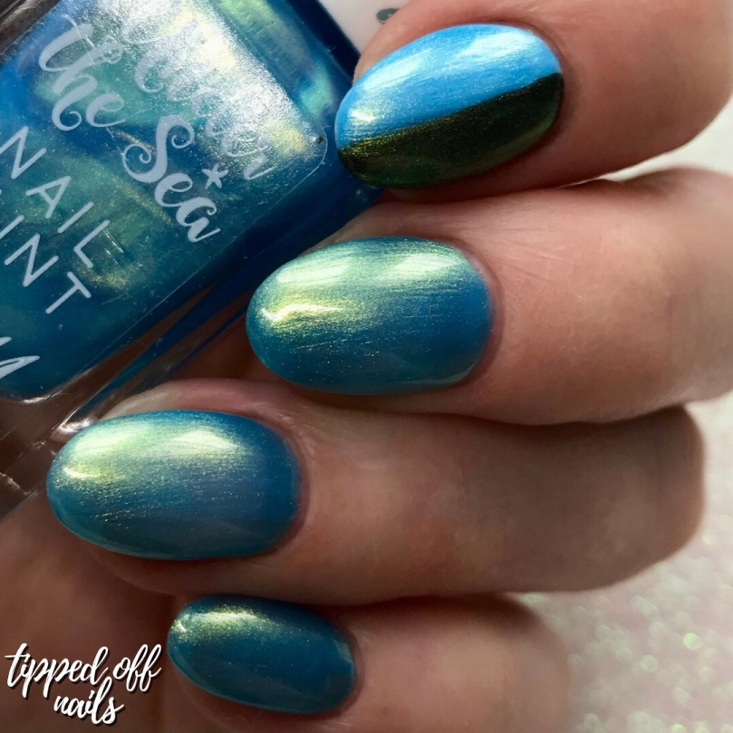Barry M Under the Sea Electric Eel swatches