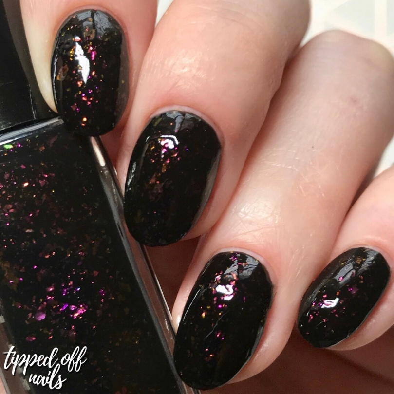 De'Lish Nails London Autumn Polishes - Dark Matter swatch & discount code