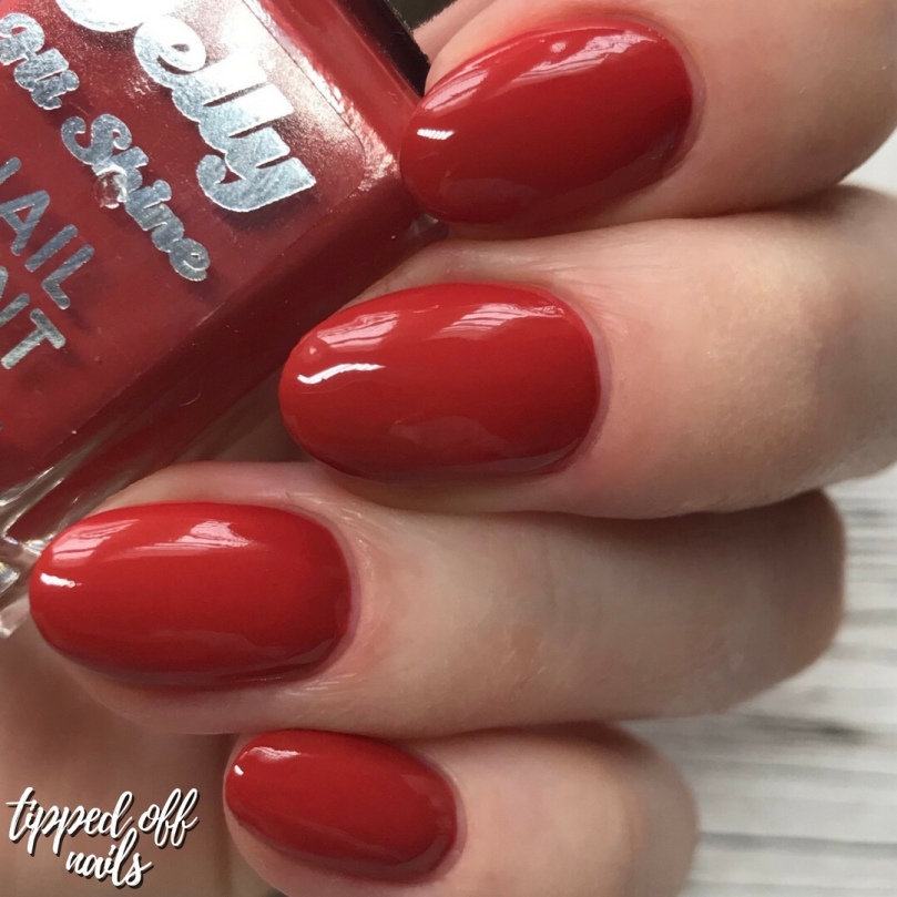 Barry M Gelly Hi Shine Ginger Swatch