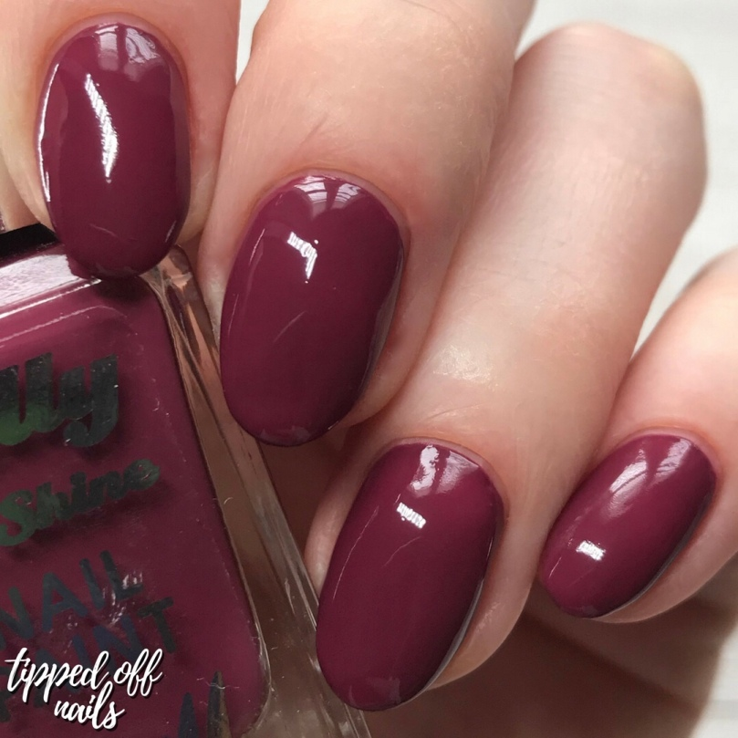 Barry M Gelly Hi Shine Rhubarb Swatch