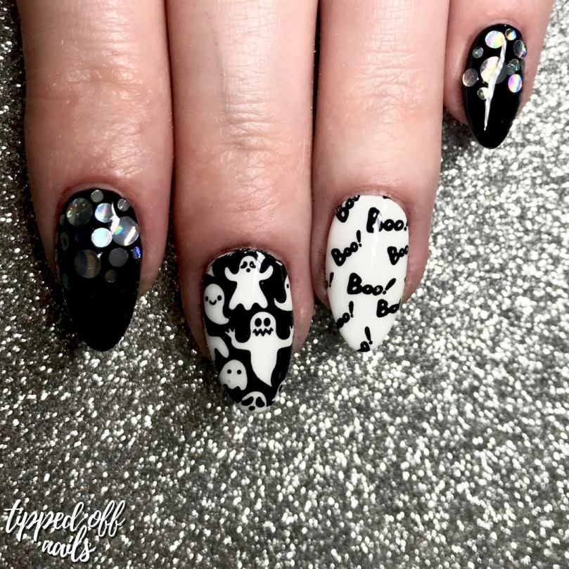 Halloween Party Ghosts Nail Art
