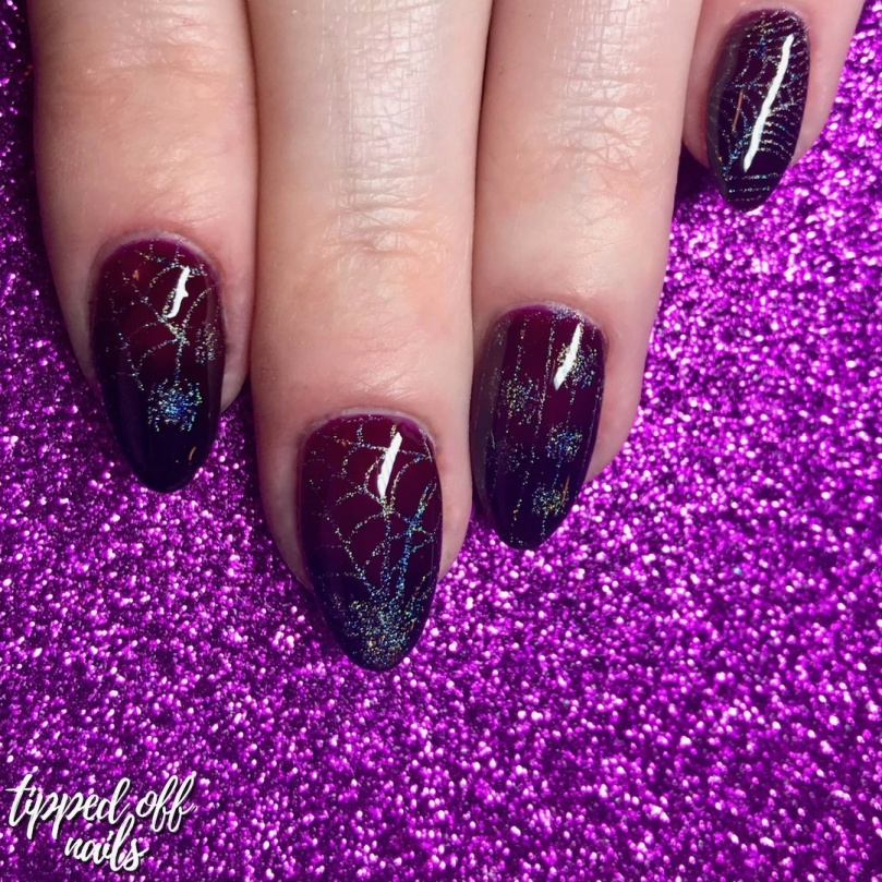 Halloween Vampy Spiders Nail Art