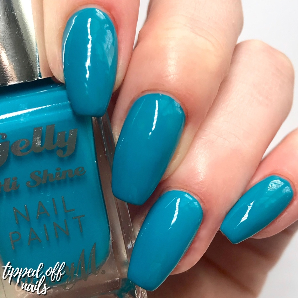 Barry M summer 2019 Gelly Hi Shine Blueberry Muffin Swatch