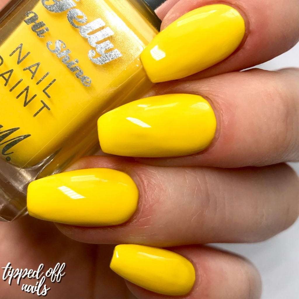 Barry M summer 2019 Gelly Hi Shine Banana Split Swatch