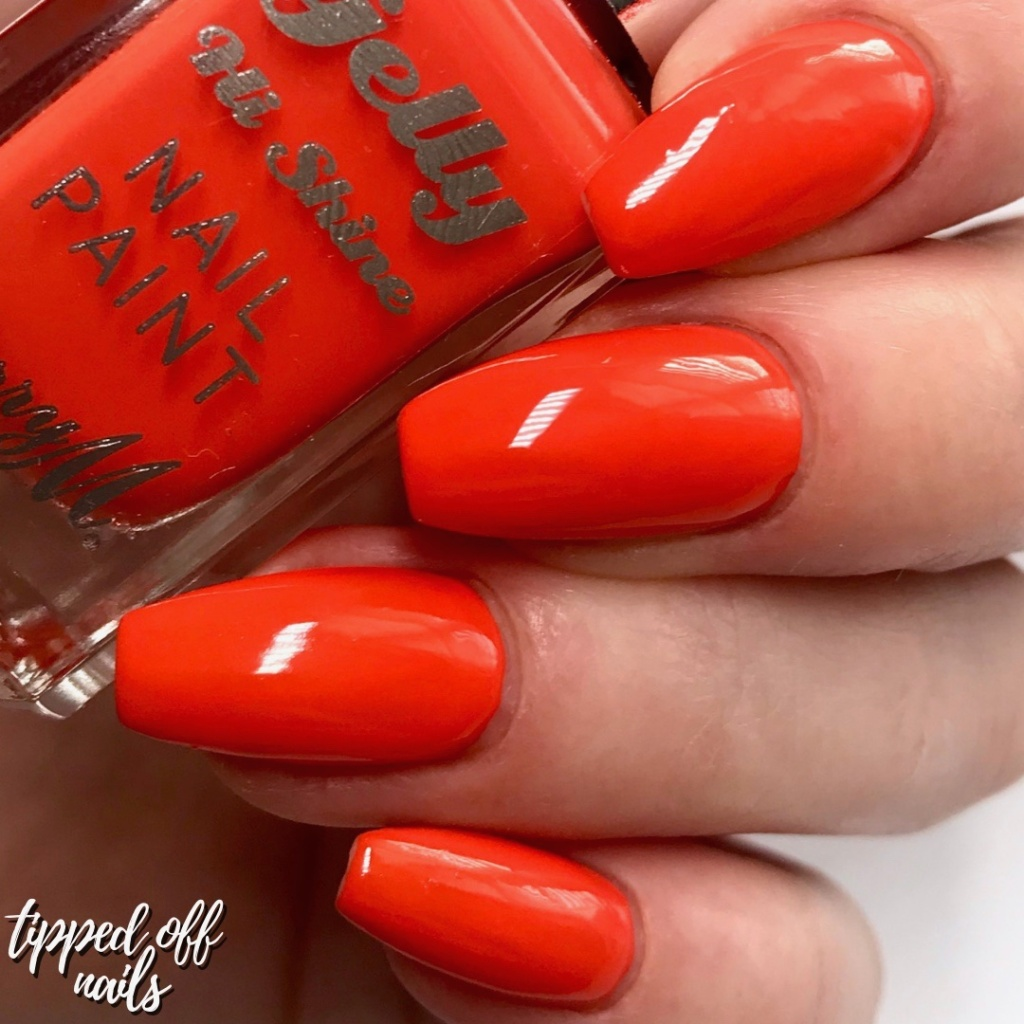 Barry M summer 2019 Gelly Hi Shine Tangerine Swatch