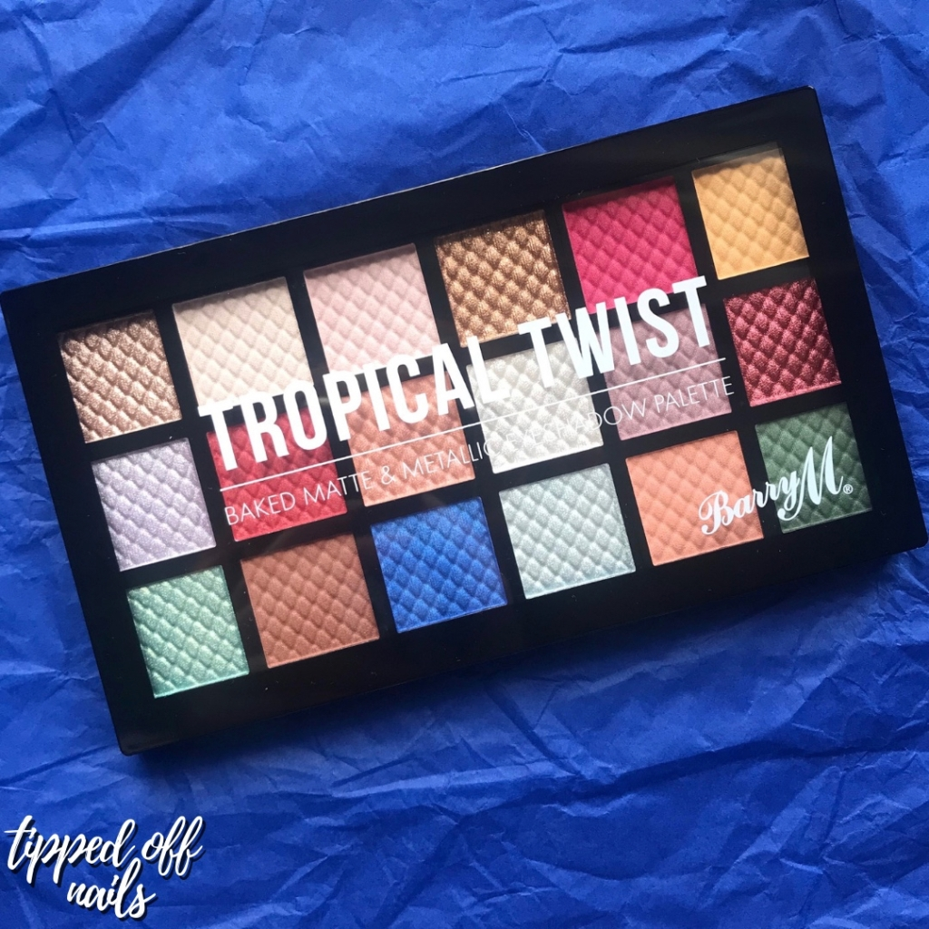 Barry M Tropical Twist Eyeshadow Palette Swatches & Review