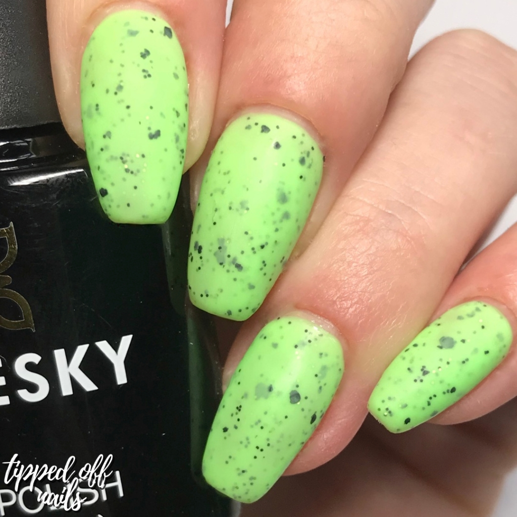 Bluesky Gel Neon Smoothie Collection Swatches & Review Mint Mania (matte)