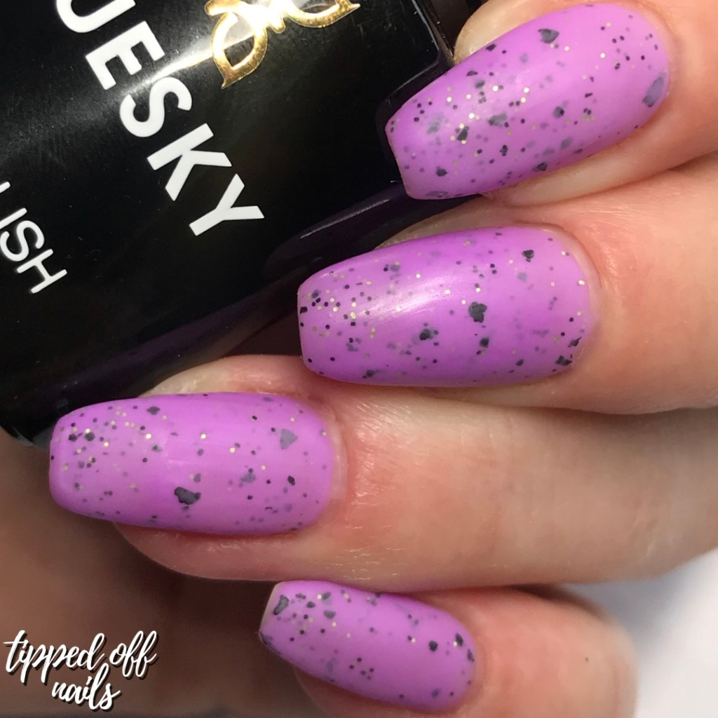 Bluesky Gel Neon Smoothie Collection Swatches & Review Berry Crush (matte)