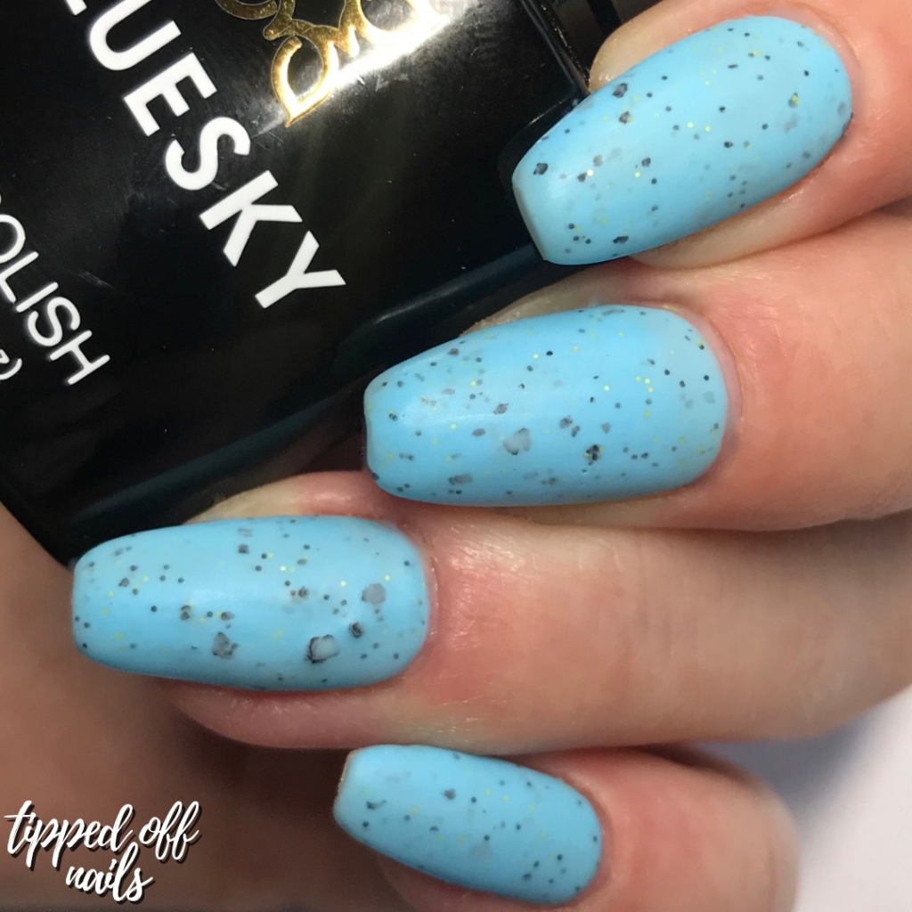 Bluesky Gel Neon Smoothie Collection Swatches & Review Blueberry Burst (matte)