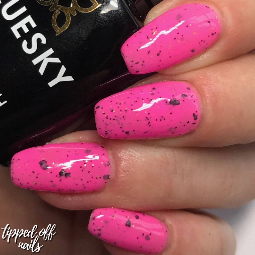 Bluesky Gel Neon Smoothie Collection Swatches & Review Raspberry Rocket