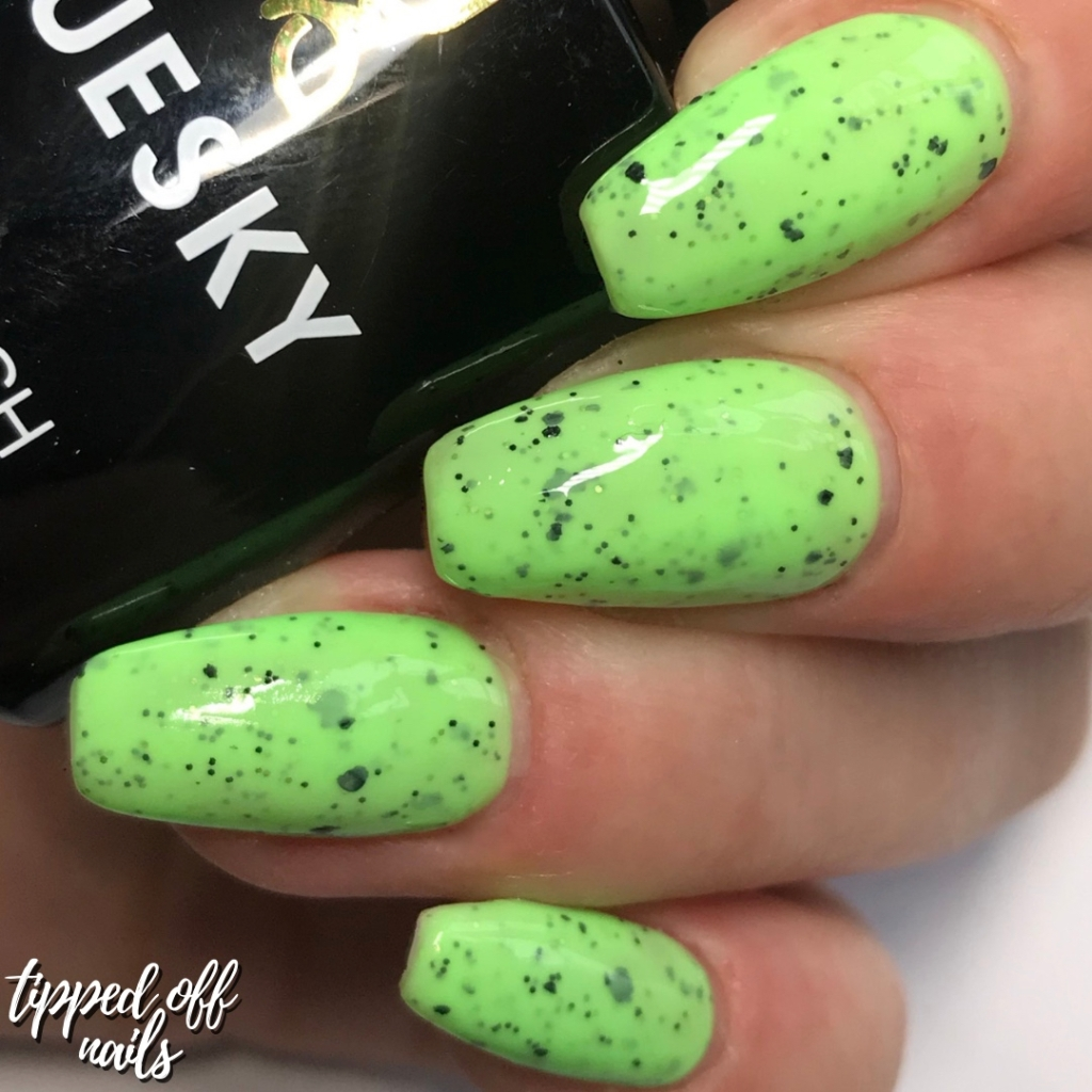 Bluesky Gel Neon Smoothie Collection Swatches & Review Mint Mania