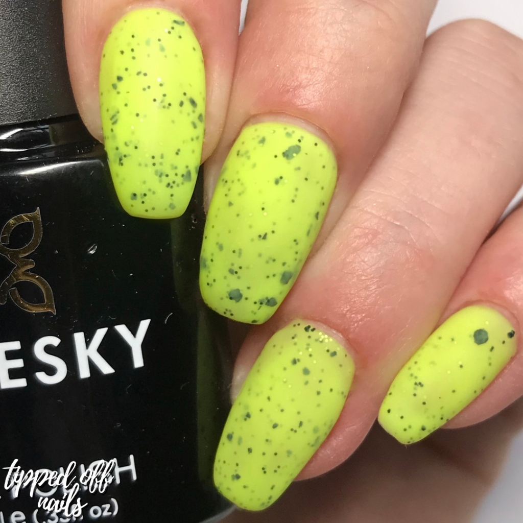 Bluesky Gel Neon Smoothie Collection Swatches & Review Tropical Twist (matte)