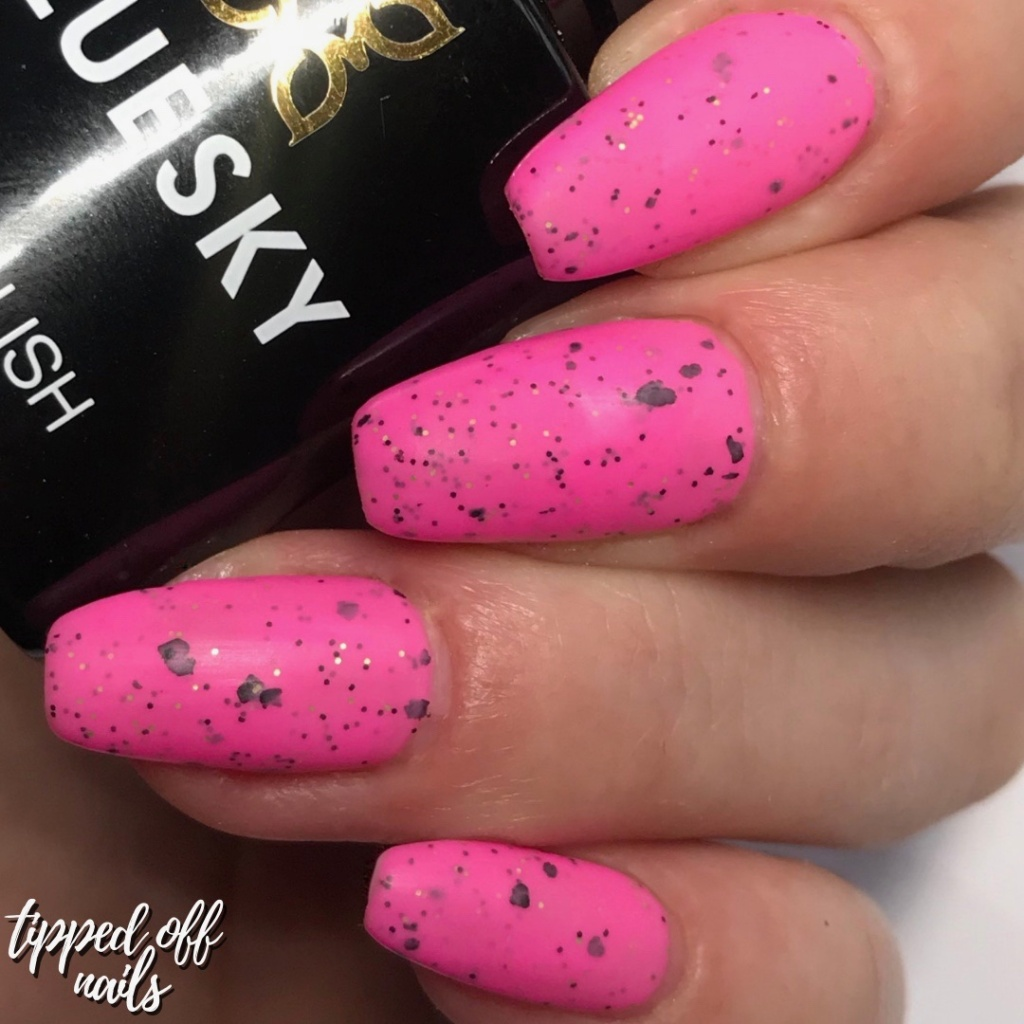 Bluesky Gel Neon Smoothie Collection Swatches & Review Raspberry Rocket (matte)