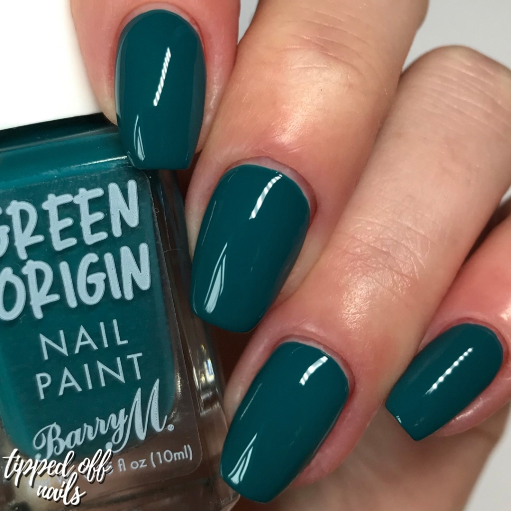 Barry M Green Origins Rock Pool Swatches
