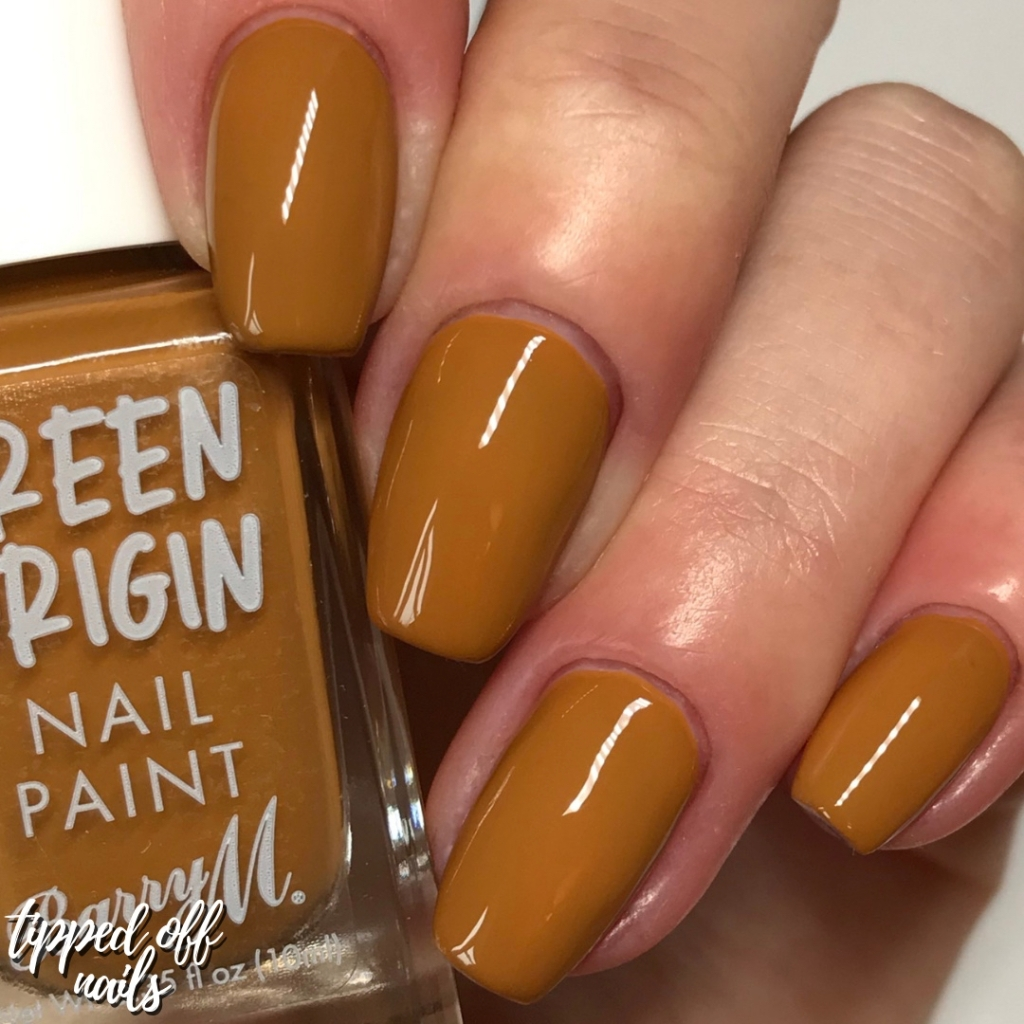 Barry M Green Origin Butterscotch Swatches
